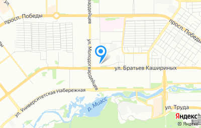 Местоположение на карте пункта техосмотра по адресу г Челябинск, ул Братьев Кашириных, д 86