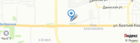 ШтормАвто на карте Челябинска