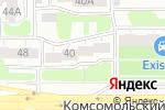 Схема проезда до компании Территория суши в Челябинске