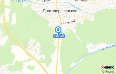 Местоположение на карте пункта техосмотра по адресу Челябинская обл, с Долгодеревенское, ул Свердловская, д 1Ж