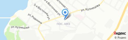 Средняя общеобразовательная школа №56 на карте Челябинска