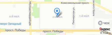 Людвиг на карте Челябинска