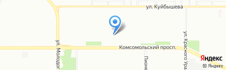 Класс на карте Челябинска
