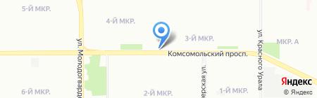 Птица на карте Челябинска