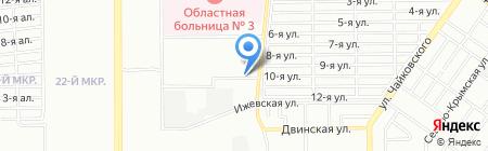 Арьяна на карте Челябинска