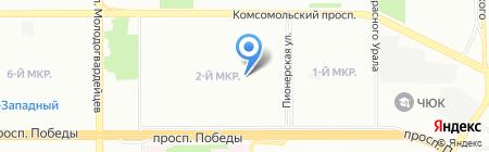 Автошкола на карте Челябинска