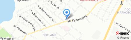 Продуктовый магазин на ул. Кузнецова на карте Челябинска