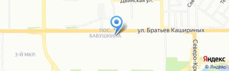 Рябинка на карте Челябинска