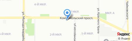 Пантера на карте Челябинска
