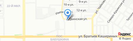 Арника на карте Челябинска