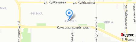 Урал-Пресс Челябинск на карте Челябинска