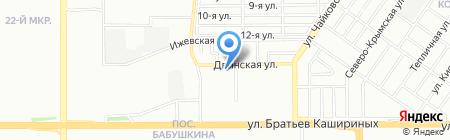 Продуктовый магазин на Двинской на карте Челябинска