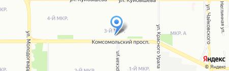 Айла Мур на карте Челябинска