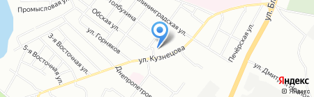 Рыболов на карте Челябинска