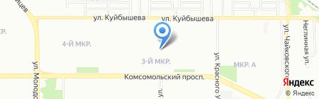 Завиток на карте Челябинска