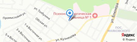 Калина на карте Челябинска