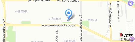 Слухопротезный кабинет на карте Челябинска