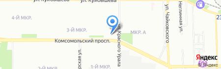 Алевика на карте Челябинска