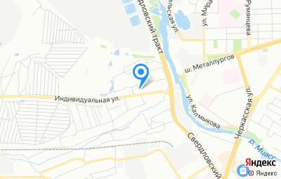 Местоположение на карте пункта техосмотра по адресу г Челябинск, ул Индивидуальная, д 40