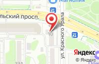 Схема проезда до компании Монтаж-Фэктори в Челябинске