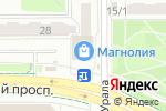 Схема проезда до компании Кнопка в Челябинске