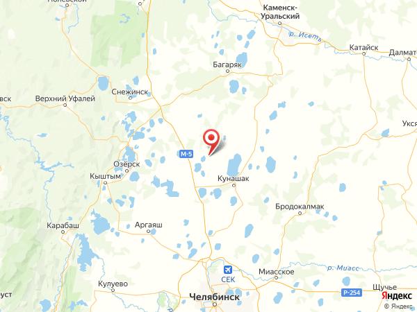 поселок Дружный на карте