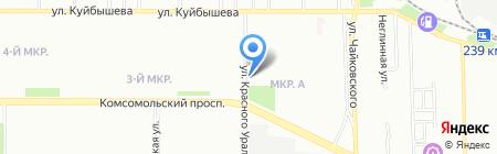 Мастерская бытовых услуг на ул. Красного Урала на карте Челябинска