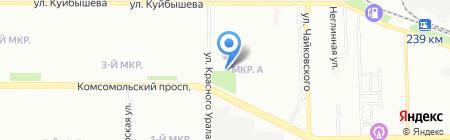 Лорэль на карте Челябинска