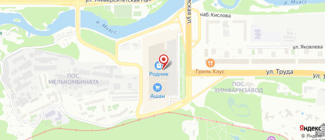 Карта расположения пункта доставки 220 вольт в городе Челябинск