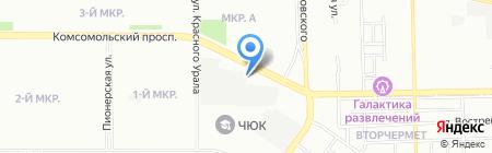 Санта на карте Челябинска