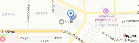 ЮУрГУ на карте Челябинска
