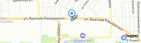 Образ на карте Челябинска