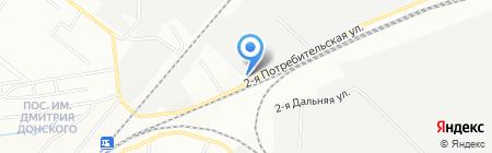 Челябинская автобаза на карте Челябинска
