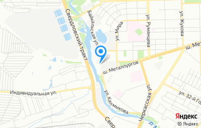 Местоположение на карте пункта техосмотра по адресу г Челябинск, ш Металлургов, д 88