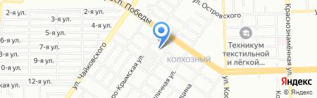 Астра на карте Челябинска