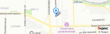 Недра на карте Челябинска