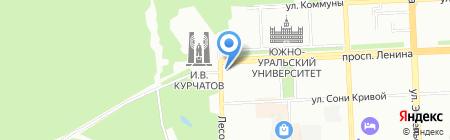 Южуралэлектроника на карте Челябинска