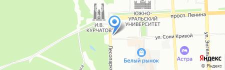 Детский сад №177 на карте Челябинска