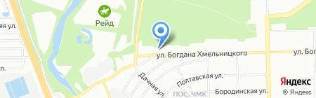 Яблонька на карте Челябинска