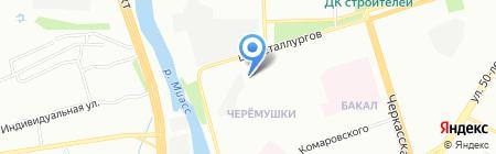 Продуктовый магазин на шоссе Металлургов на карте Челябинска