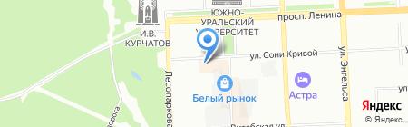 Альфа-Печати на карте Челябинска