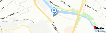 Ариус на карте Челябинска