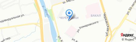 Детский сад №255 на карте Челябинска