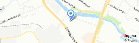 Стеклорез на карте Челябинска