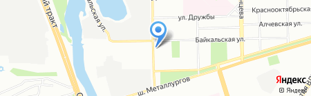 Байкал на карте Челябинска