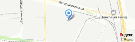 Альба на карте Челябинска