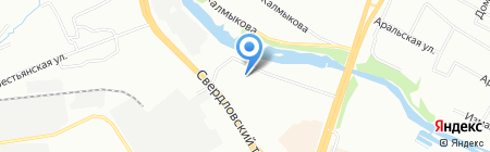 Кристалл на карте Челябинска