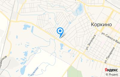 Местоположение на карте пункта техосмотра по адресу Челябинская обл, г Коркино, ул Куйбышева, д 157