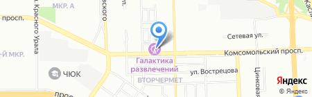 Конфетти на карте Челябинска