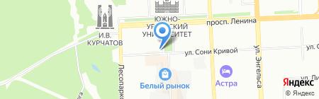 АИС Тревел на карте Челябинска